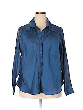 Selene Sport Long Sleeve Button-Down Shirt Size 2X (Plus)