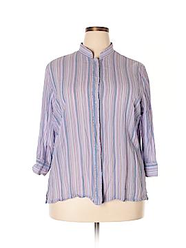 Valerie Stevens 3/4 Sleeve Button-Down Shirt Size 2X (Plus)