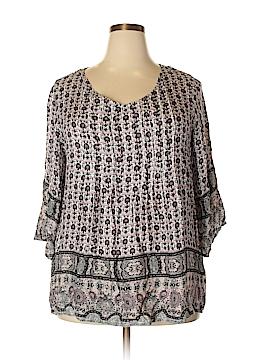 Style&Co Sport 3/4 Sleeve Blouse Size 1X (Plus)