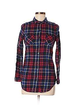 No Boundaries Long Sleeve Button-Down Shirt Size S