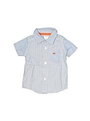 Carter's Boys Short Sleeve Button-Down Shirt Size 3 mo