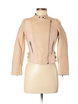 CoffeeShop Faux Leather Jacket Size L