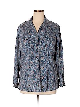 Crazy Horse by Liz Claiborne Long Sleeve Button-Down Shirt Size 1X (Plus)