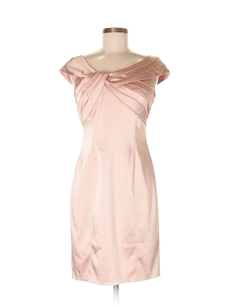 Jones New York Solid Light Pink Cocktail Dress Size 8 (Petite) - 82 ...