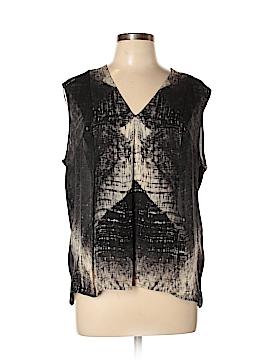Halston Heritage Short Sleeve Silk Top Size 10