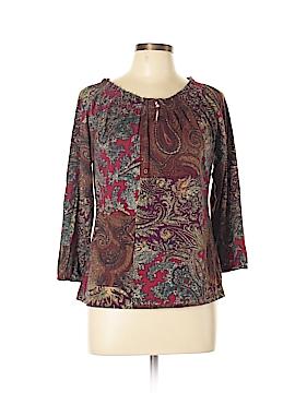Chaps 3/4 Sleeve Blouse Size L
