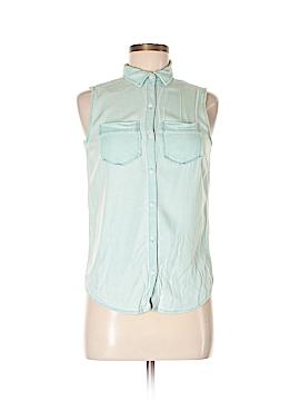 Rubbish Sleeveless Button-Down Shirt Size XS