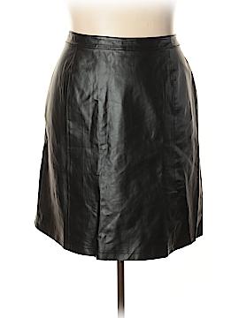Jessica London Leather Skirt Size 20 (Plus)