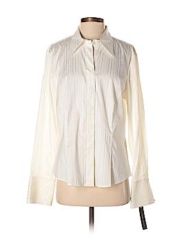 Sandra Ingrish Long Sleeve Button-Down Shirt Size 16