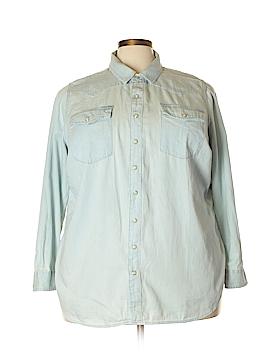 Lucky Brand Long Sleeve Button-Down Shirt Size 3X (Plus)