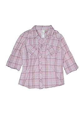 Girl Krazy 3/4 Sleeve Button-Down Shirt Size M (Kids)