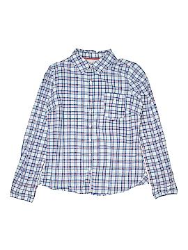 Girl Krazy Long Sleeve Button-Down Shirt Size L (Kids)