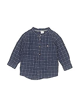 H&M Long Sleeve Button-Down Shirt Size 9-12 mo