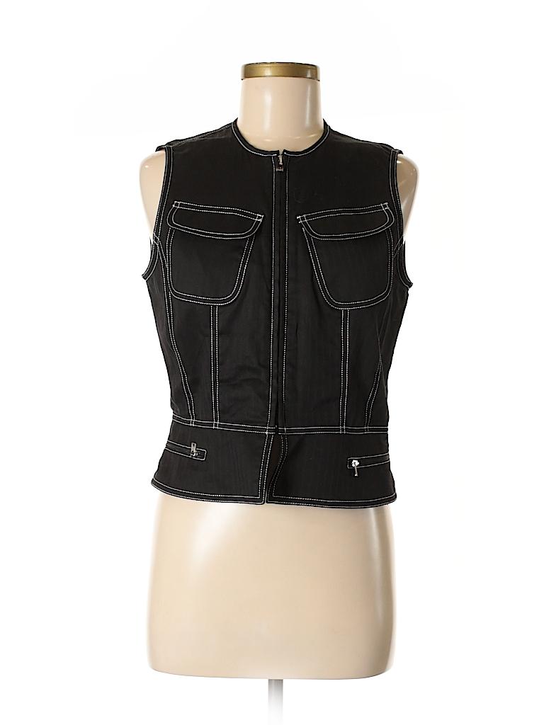 100 Cotton Black 70 Thredup Off Klein Calvin Solid Vest Size 8 gOqPn5wxE