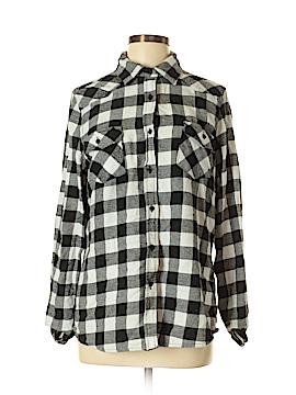 Miss Posh Long Sleeve Button-Down Shirt Size M