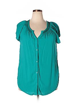 Faded Glory Short Sleeve Button-Down Shirt Size XXL