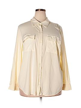 Charter Club Long Sleeve Button-Down Shirt Size 3X (Plus)