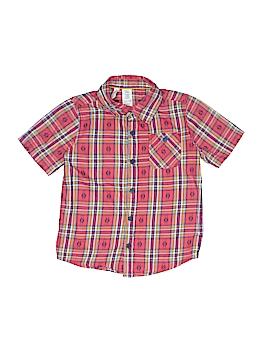 Toughskins Short Sleeve Button-Down Shirt Size M (Youth)