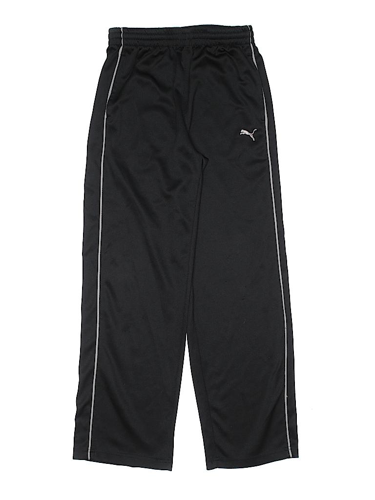 4ac8f74b4f3c Puma 100% Polyester Solid Black Track Pants Size L (Youth) - 54% off ...