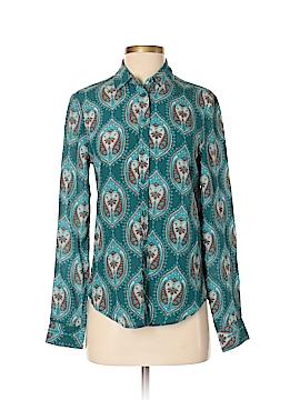 Joe Fresh Long Sleeve Silk Top Size XS