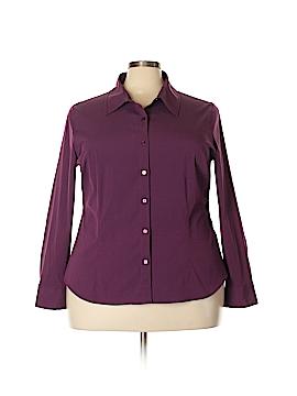 Como Long Sleeve Button-Down Shirt Size 3X (Plus)