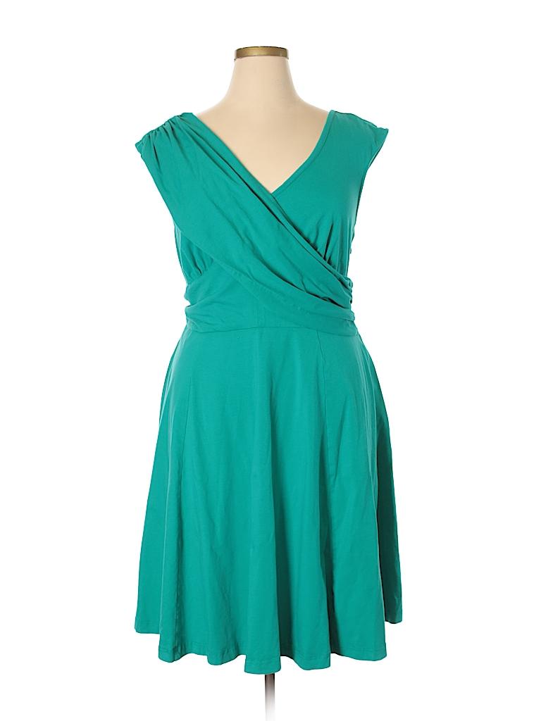eShakti Solid Blue Casual Dress Size 18 (Plus) - 76% off | thredUP