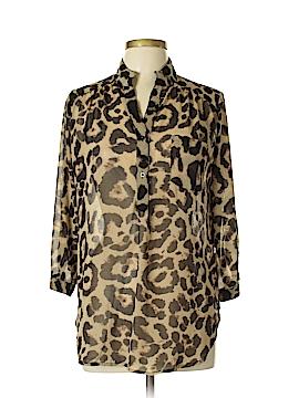 Xtaren 3/4 Sleeve Button-Down Shirt Size L