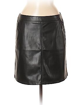 Ann Taylor LOFT Outlet Faux Leather Skirt Size 8