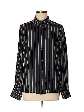 Frame Shirt London Los Angeles Long Sleeve Silk Top Size L