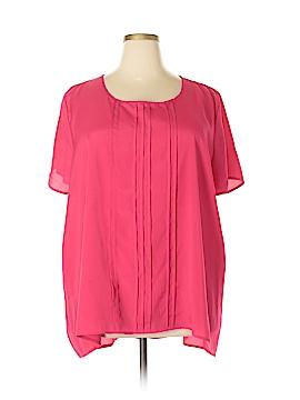 Pure Energy Short Sleeve Blouse Size 4 (Plus)