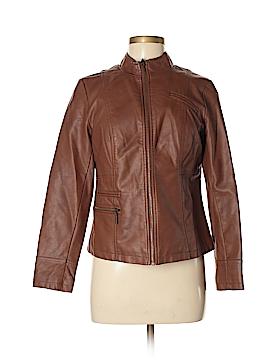 Alfani Faux Leather Jacket Size M (Petite)