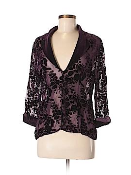 Alex Evenings Long Sleeve Button-Down Shirt Size M