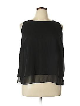 Bisou Bisou Sleeveless Button-Down Shirt Size 0X (Plus)