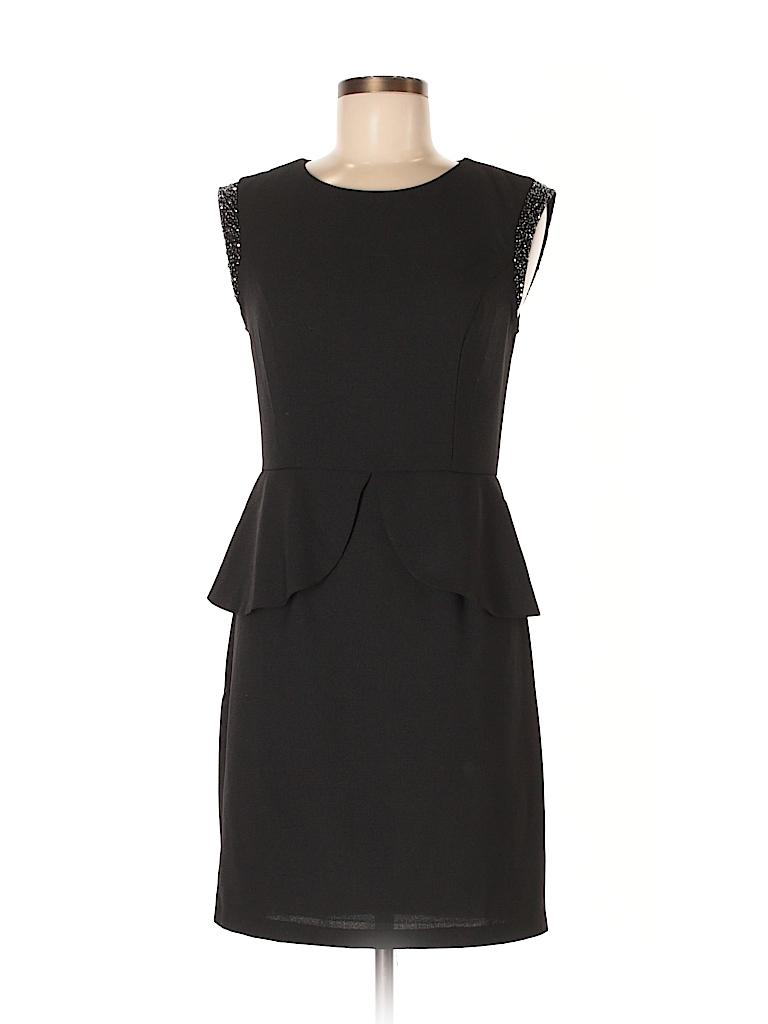 Forever 21 100% Polyester Solid Black Cocktail Dress Size M - 57 ...