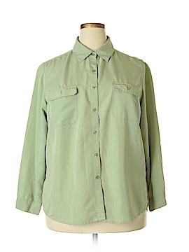Erik Stewart Long Sleeve Button-Down Shirt Size 16
