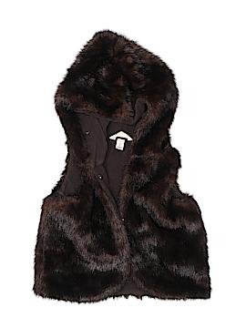 Lands' End Faux Fur Vest Size 4