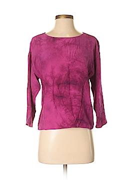 Gryphon New York Long Sleeve Silk Top Size S