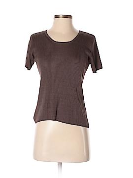 August Silk Short Sleeve Silk Top Size P (Petite)