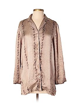 Saks Fifth Avenue Long Sleeve Silk Top Size S
