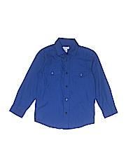 IZOD Boys Long Sleeve Button-Down Shirt Size M (Kids)