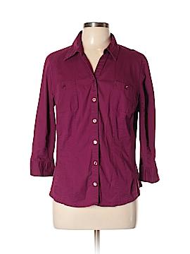 SJBactive by St. John's Bay 3/4 Sleeve Button-Down Shirt Size XL