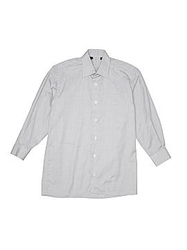 Ragazzo Uomo Long Sleeve Button-Down Shirt Size 10
