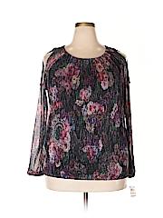 INC International Concepts Women Long Sleeve Blouse Size 2X (Plus)