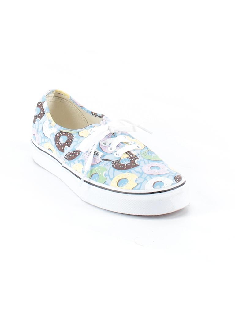 7497411dcd Vans Print Light Blue Sneakers Size 8 1 2 - 66% off