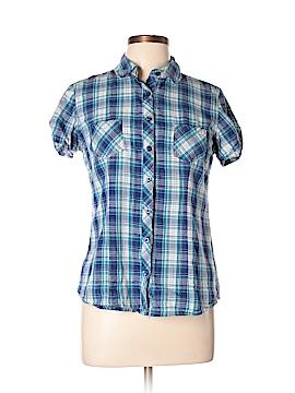 Op Short Sleeve Button-Down Shirt Size L