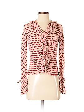 Hillard & Hanson Long Sleeve Silk Top Size S
