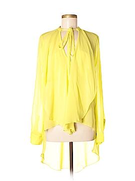 BCBGMAXAZRIA Long Sleeve Silk Top Size M