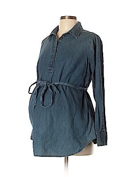 Liz Lange Maternity for Target Long Sleeve Button-Down Shirt Size L (Maternity)