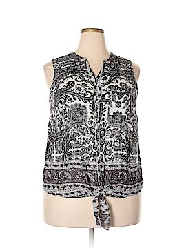 Lucky Brand Sleeveless Button-Down Shirt Size 1X (Plus)
