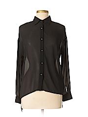 Mono B Women Long Sleeve Blouse Size M